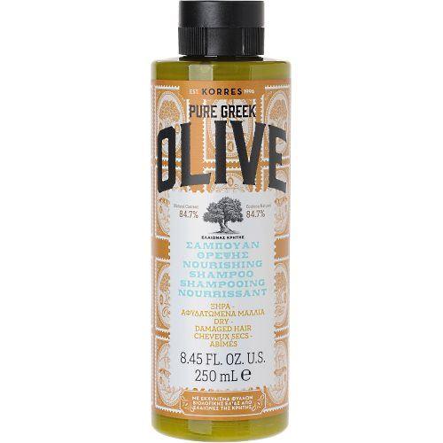 KORRES Pure Greek Olive Σαμπουάν Θρέψης και Ενυδάτωσης με Εκχύλισμα Φύλλων Ελιάς 250ml