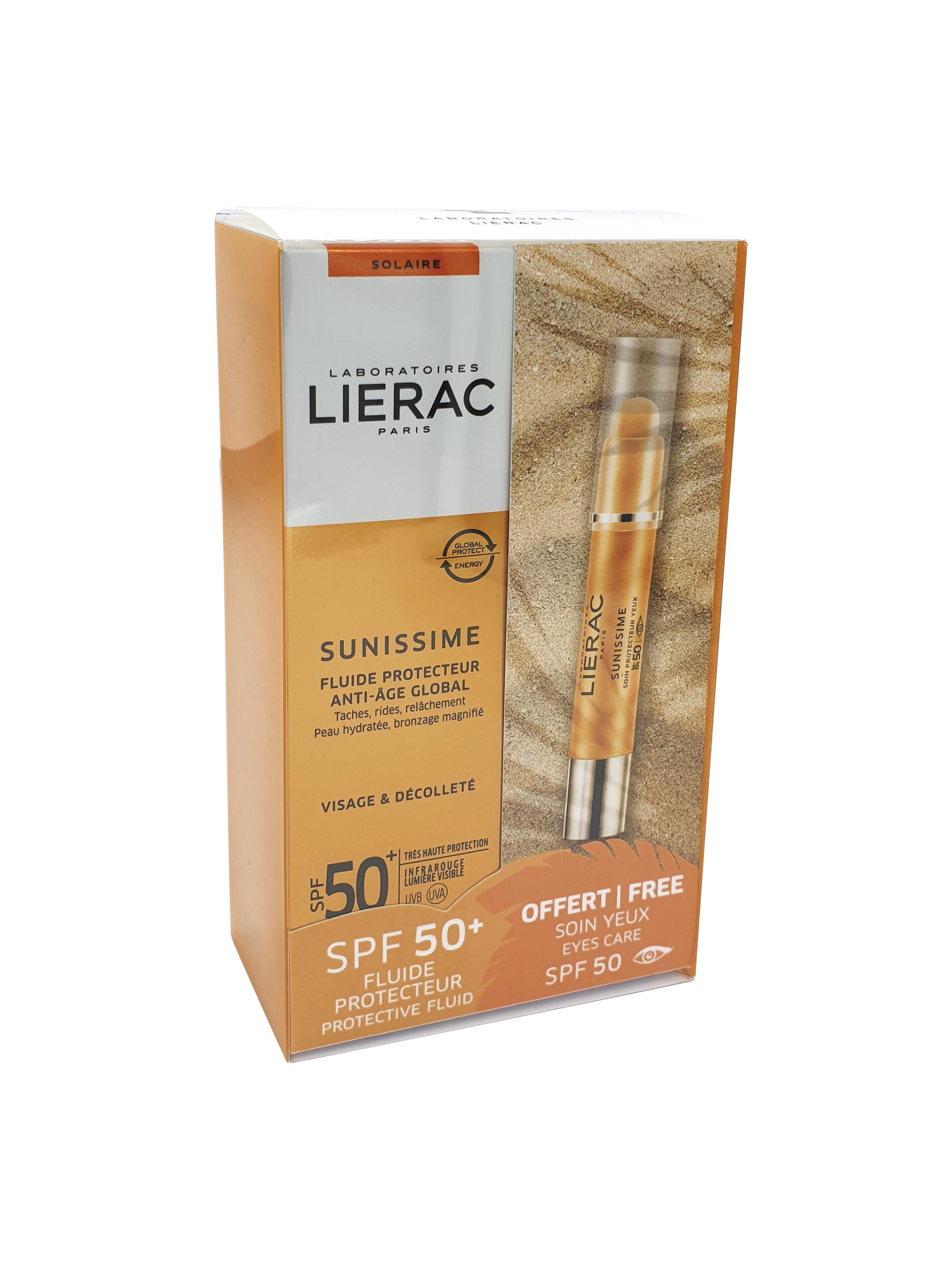 Lierac Promo Sunissime Fluide Protecteur Anti-Age Globale SPF50+ 40ml & Δώρο Soin Protecteur Yeux SPF50+ (3gr)