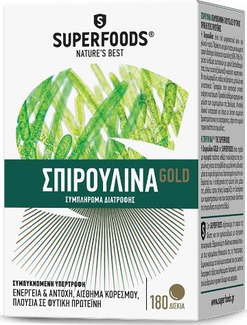 SUPERFOODS SPIRULINA GOLD EUBIAS 180TAB