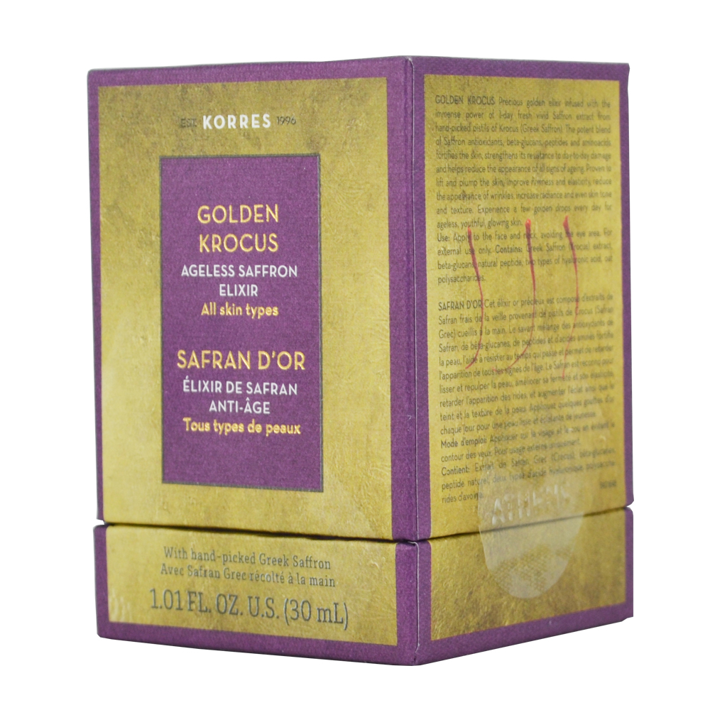 Korres Golden Krocus Ελιξήριο Νεότητας με Χρυσό Κρόκο για Όλους τους Τύπους Επιδερμίδας 30ml