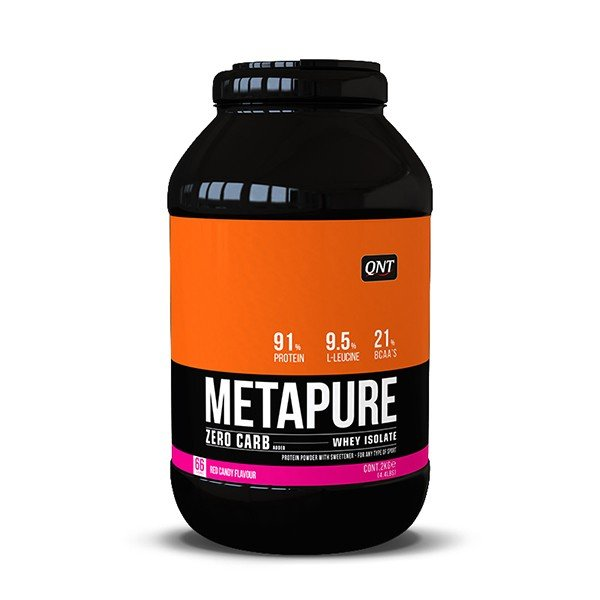 QNT Metapure Zero Carb Whey Isolate Protein Powder Red Candy 2kg