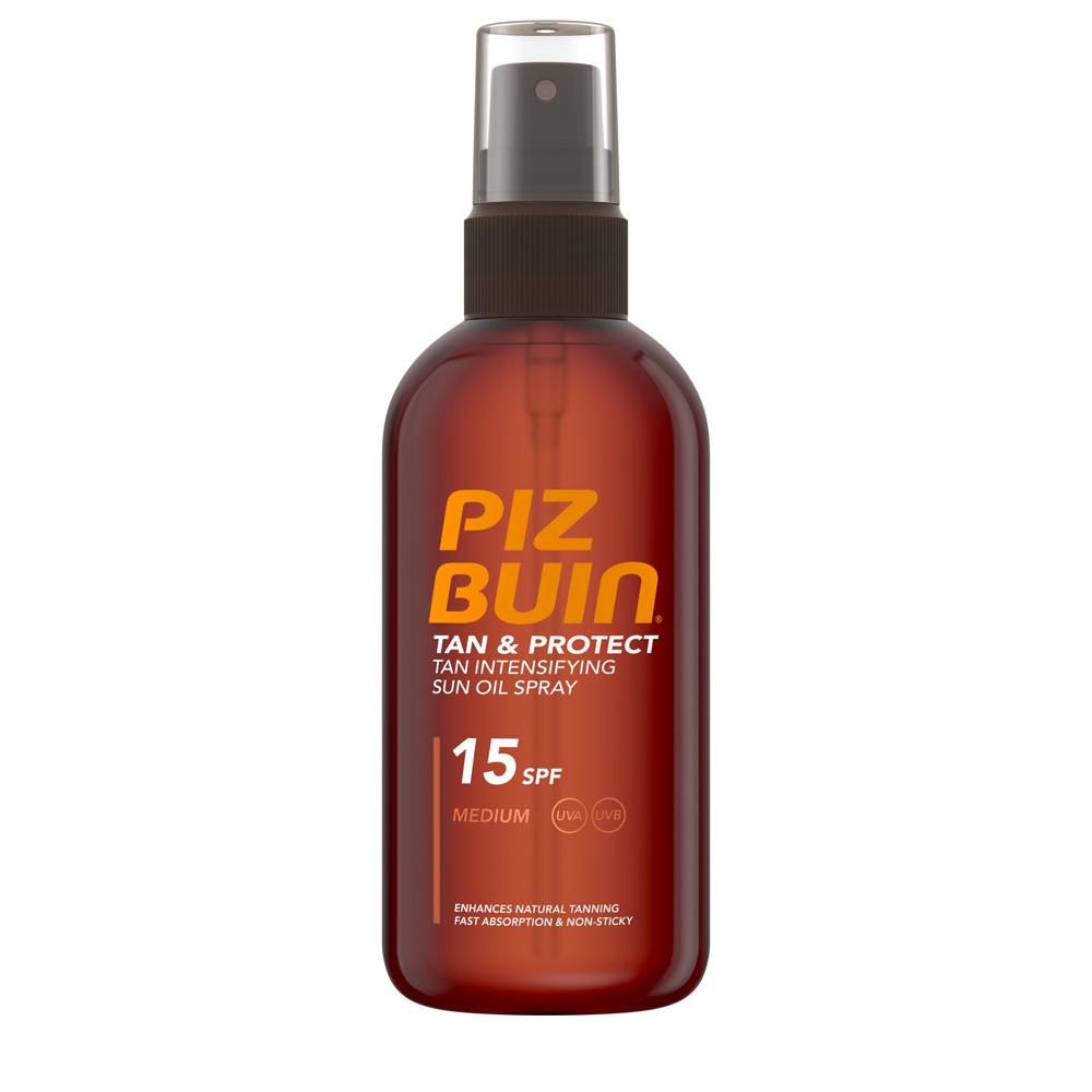Piz Buin Tan & Protect Sun Oil Spray SPF15 Αντηλιακό Λάδι Μέτριας Προστασίας 150ml