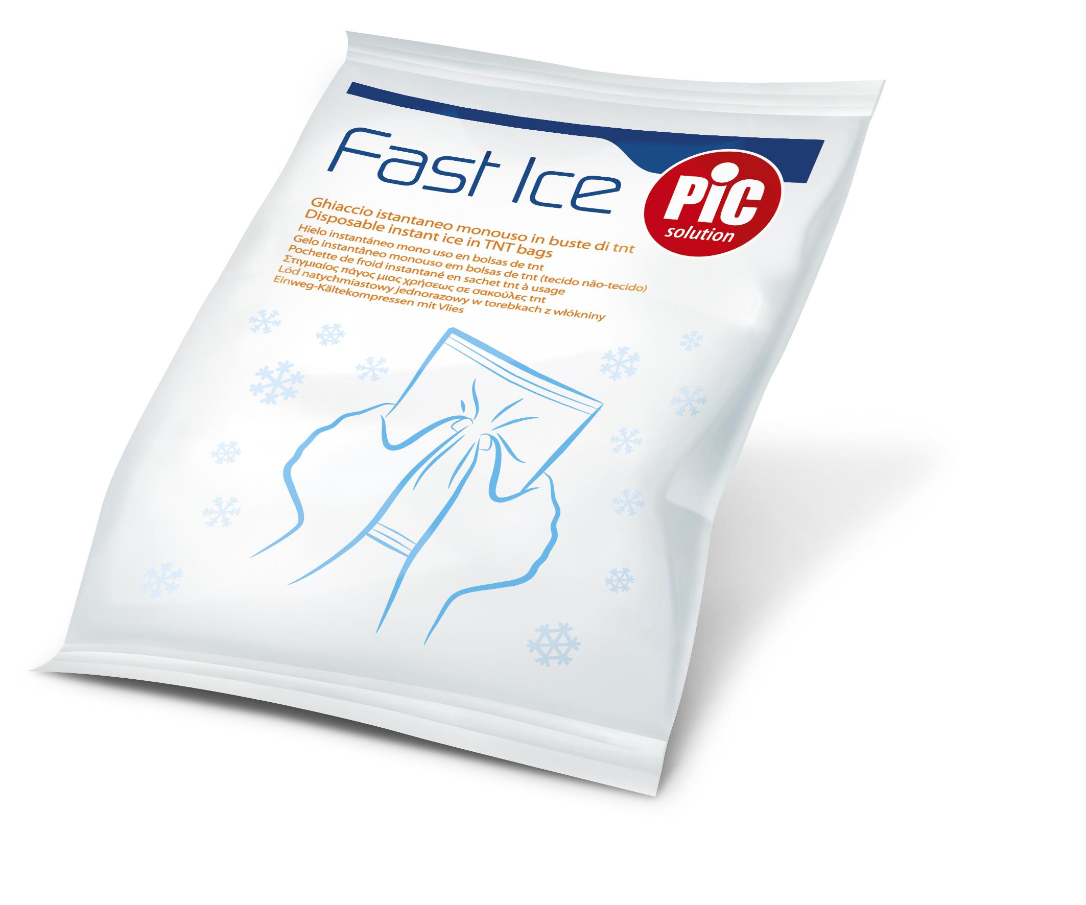 Pic Solution Fast Ice Στιγμιαίος Πάγος μιας Χρήσεως 13,5cm Χ 18cm 2τμχ