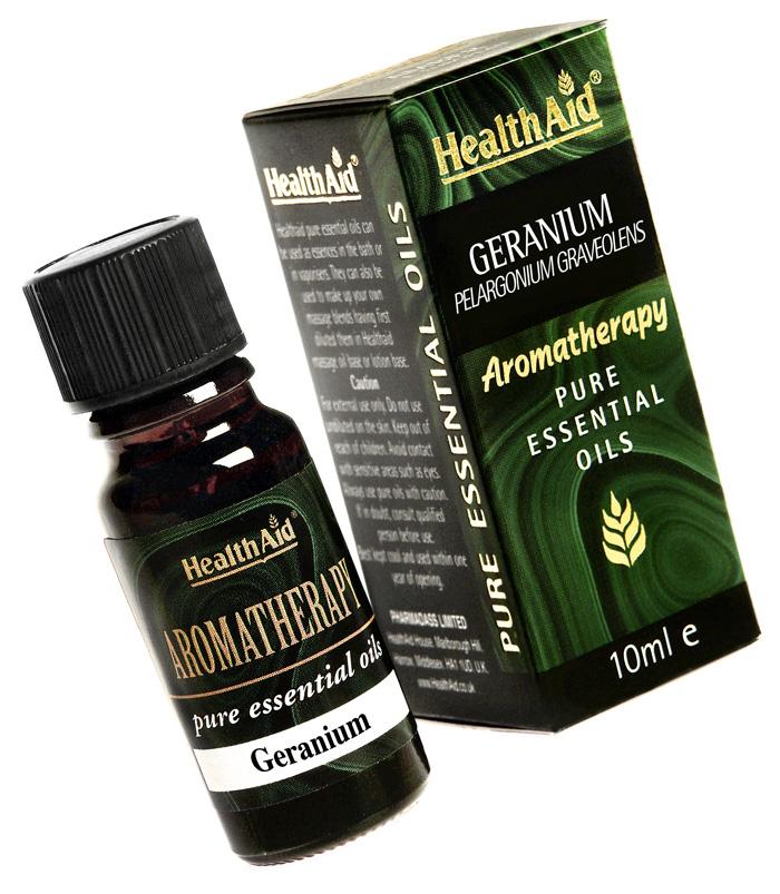 Health Aid Aromatherapy Geranium Oil (Pelargonium graveolens) 10ml