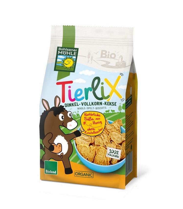 Bohlsener Muhle Tierlix Παιδικά Βιολογικά Μπισκότα Ντίνκελ Ζωάκια 125gr