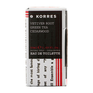 KORRES ΑΝΔΡΙΚΟ ΑΡΩΜΑ VETIVER ROOT,GREEN TEA,CEDARWOOD 50ML