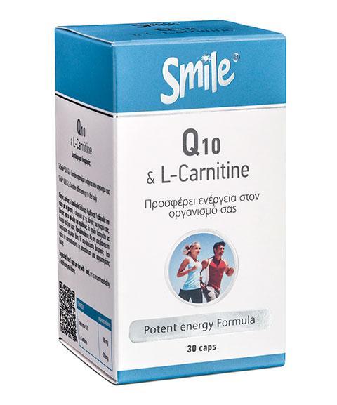 AM HEALTH SMILE Coenzyme Q10 & L-Carnitine 30caps