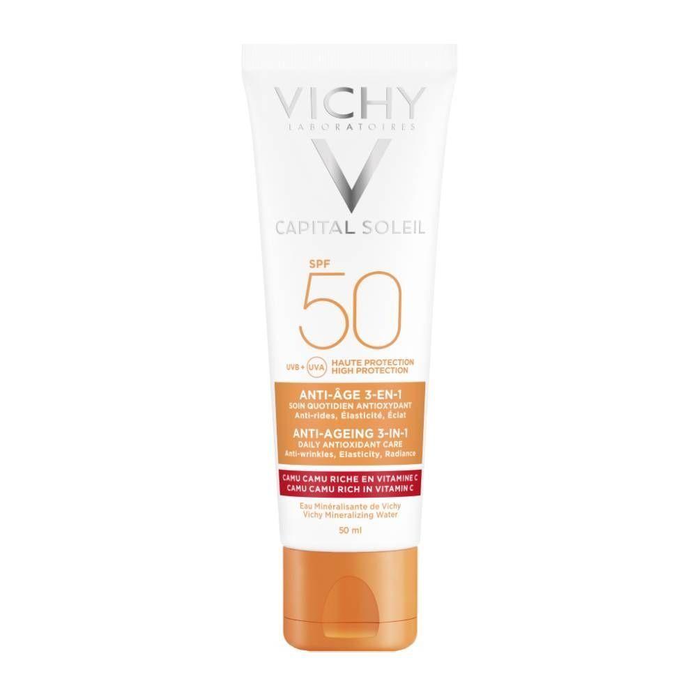 VICHY Ideal Soleil SPF50 Anti-ageing 3in1 Antioxidant Care 50ml