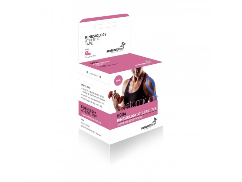 Anatomicline Tape kinesiology Athletic Tape Pink 5cm X 5m 1τμχ 8004