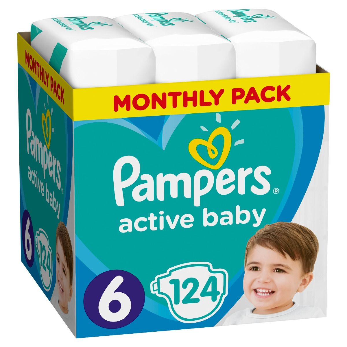 Pampers Active Baby No.6 (13-18kg) 124τμχ
