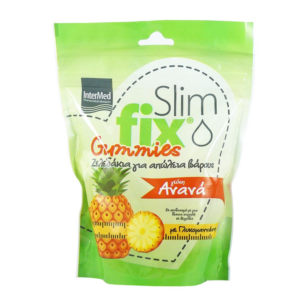 Intermed Slim Fix Pineapple Gummies, (Ζελεδάκια για Απώλεια Βάρους με Γεύση Ανανά), 210gr