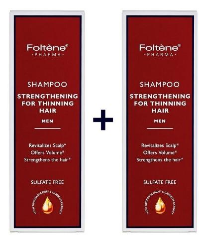 Foltene Shampoo Thinning Hair Men Δυναμωτικό Σαμπουάν Κατά της Ανδρικής Tριχόπτωσης 200ml 1+1 Δώρο