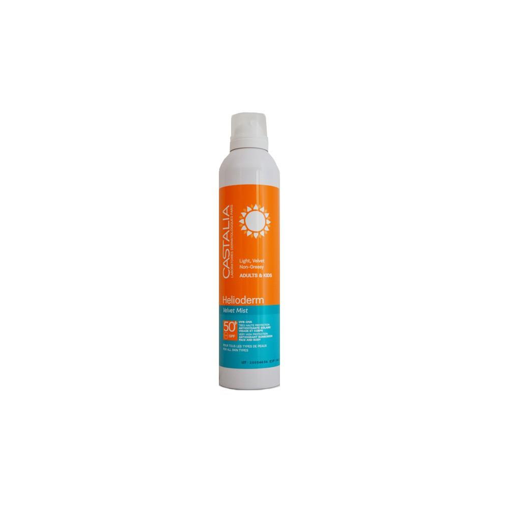Castalia Helioderm Velvet Mist SPF50+ Αντηλιακό Spray Προσώπου & Σώματος 245ml