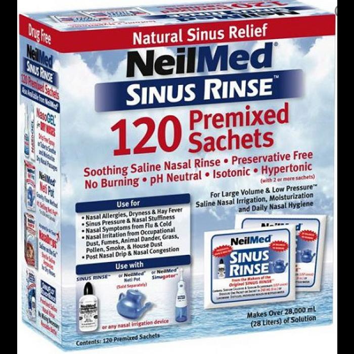 NEILMED SINUS RINSE 120 PREMIXED SACHETS FOR ADULTS