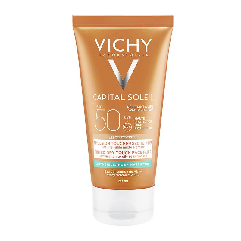 VICHY Ideal Soleil Ματ Αποτέλεσμα με χρώμα SPF50 50ml