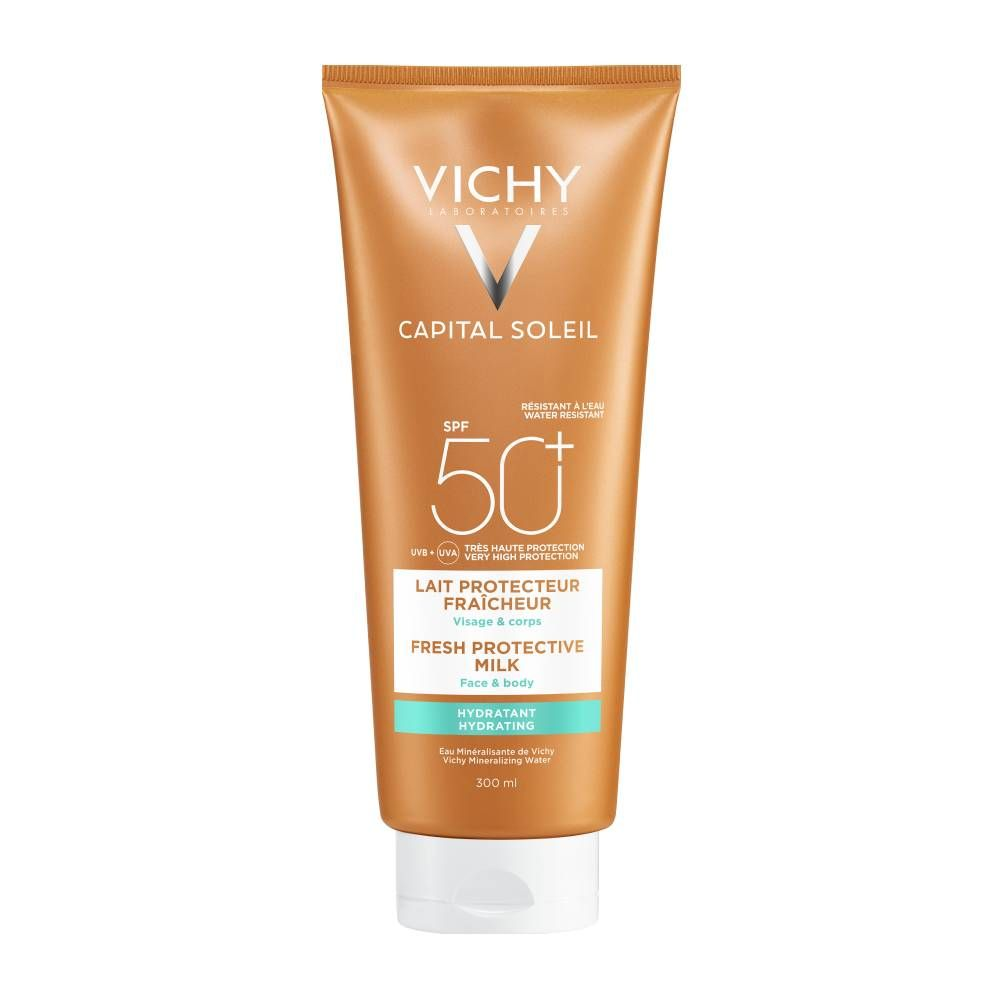 Vichy Capital Soleil Beach Protect SPF50+ Fresh Hydrating Milk Face & Body 300ml