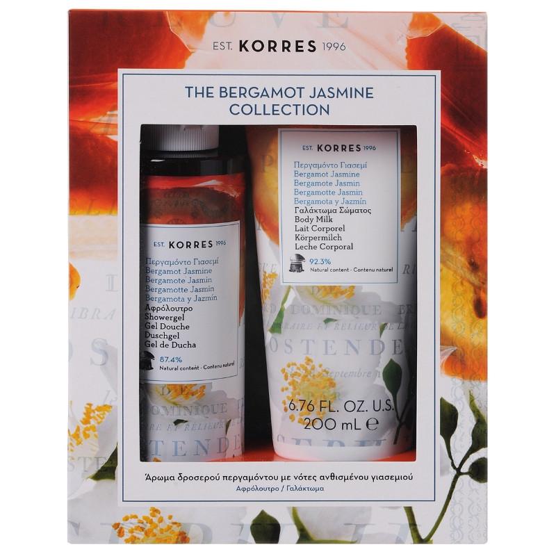 Korres Set The Bergamot Jasmine Collection  Αφρόλουτρο Περγαμόντο Γιασεμί 250ml + Korres Γαλάκτωμα Σώματος Περγαμόντο Γιασεμί 200ml
