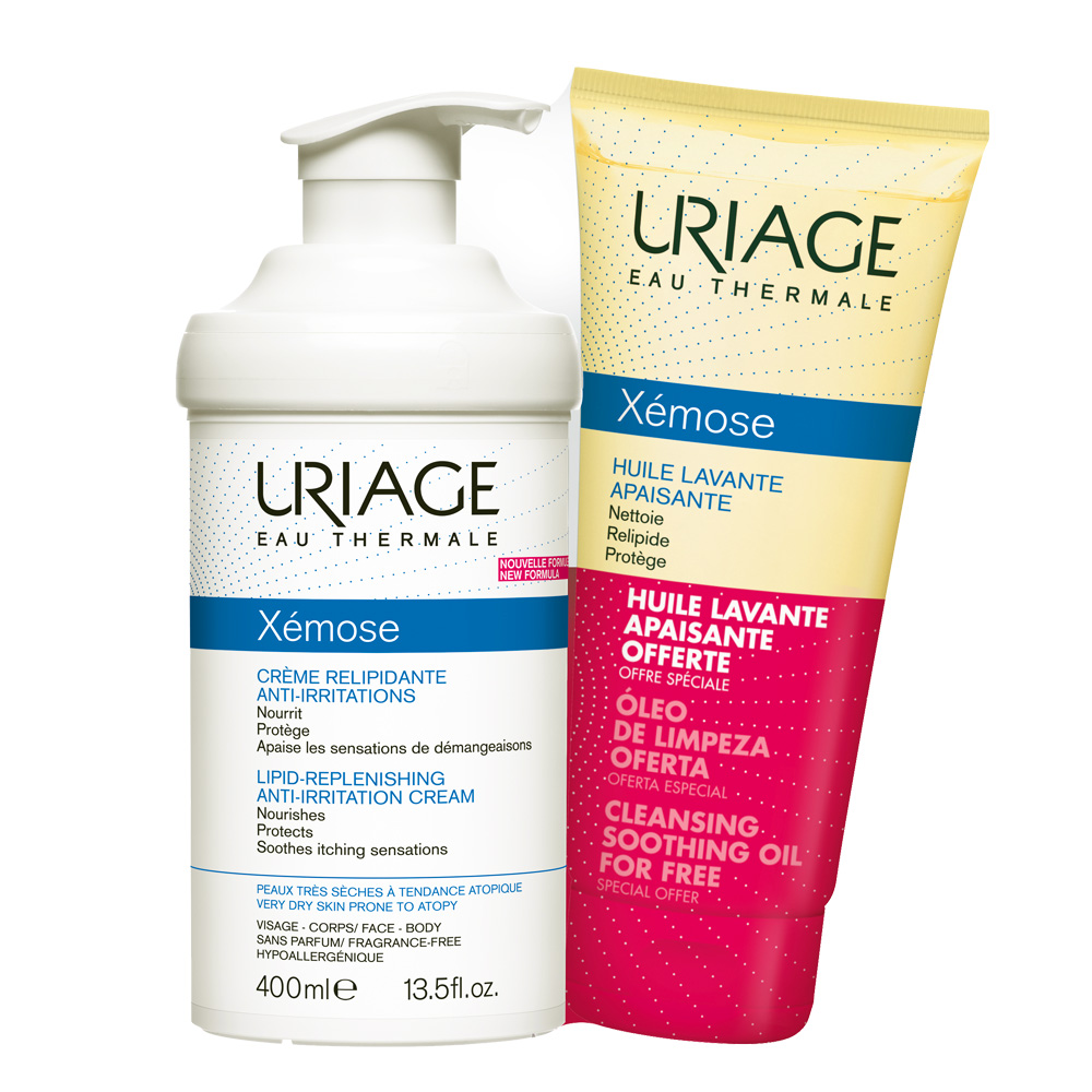 Uriage PROMO XEMOSE Creme Relipidante Anti-Irritations 400ml + ΔΩΡΟ Huile Lavante Apaisante 200ml