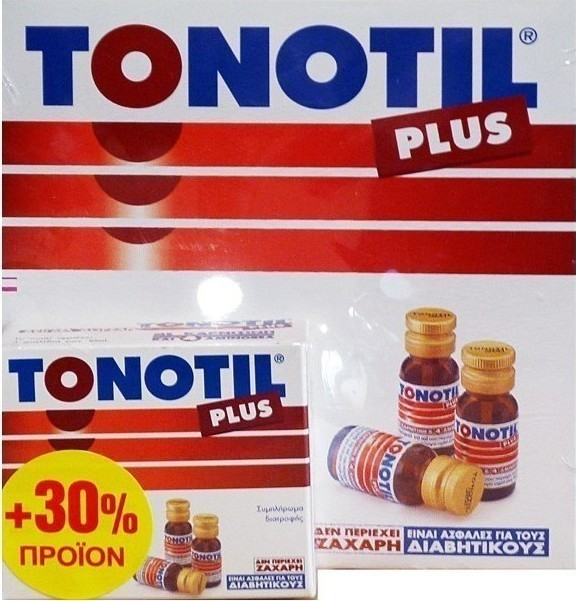 TONOTIL PLUS AMPOULES 10X10ML + 30% ΔΩΡΕΑΝ ΠΡΟΙΟΝ