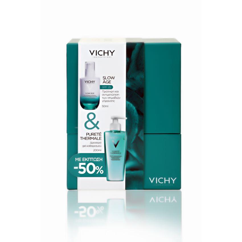 Vichy Set Slow Age SPF25 50ml + Purete Thermale Δροσερό Τζελ Καθαρισμού με Έκπτωση 50% 200ml