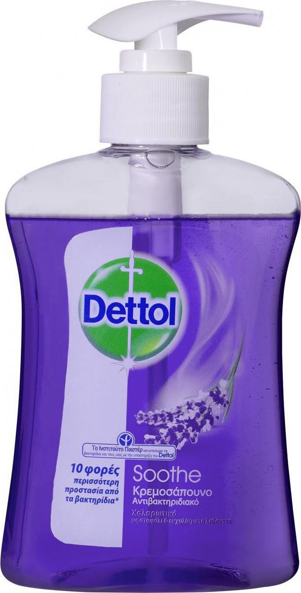 DETTOL Liquid Soap Soothe Χαλαρωτικό Κρεμοσάπουνο από Λεβάντα & Εκχυλίσματα Σταφυλιού 250ml