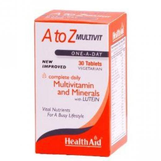 HEALTH AID A TO Z MULTIVIT - Lutein 30vetabs