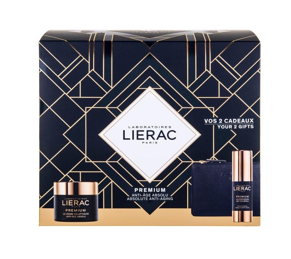 Lierac Set Premium La Creme Voluptuese 50ml & ΔΩΡΟ Premium Eye Cream 15ml & ΔΩΡΟ Δερμάτινο Πορτοφόλι