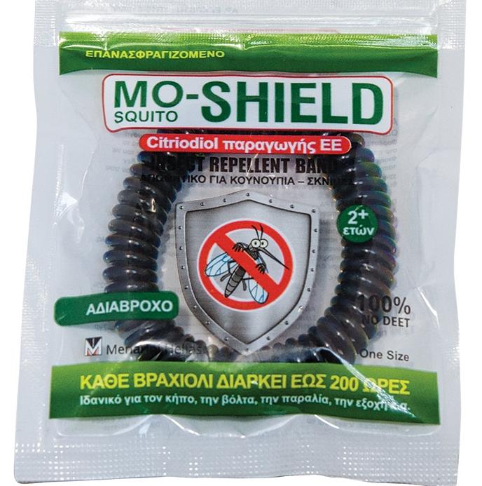 Mo-Shield Αντικουνουπικό Βραχιόλι Μαύρο 1τμχ