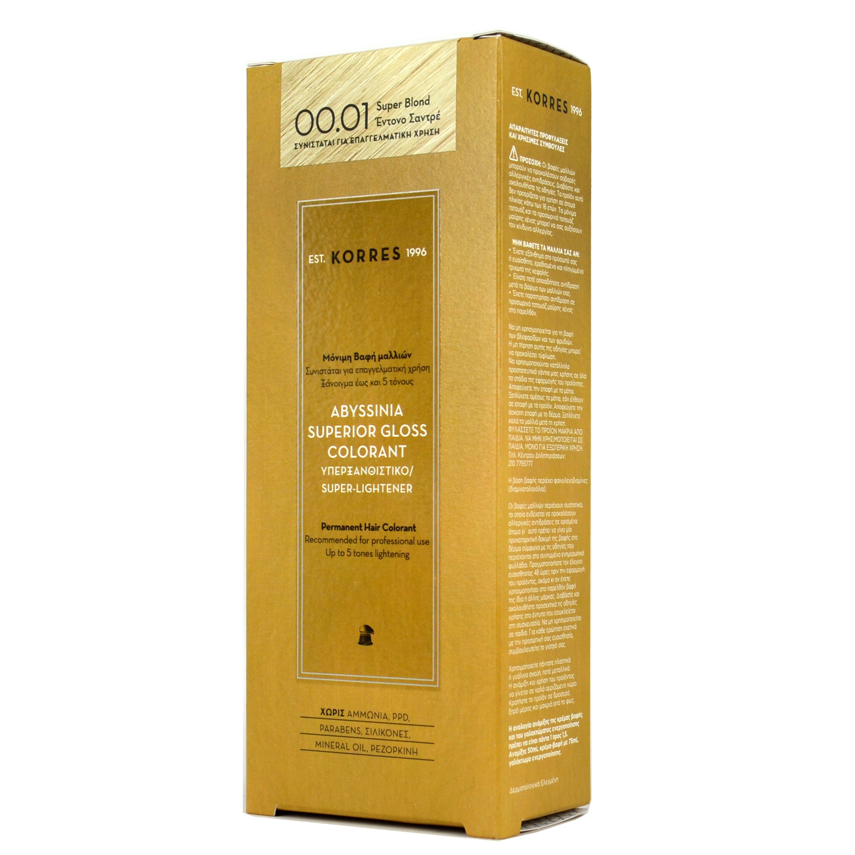 KORRES Abyssinia Superior Gloss Colorant Υπερξανθιστικό 00.01 ... 8ca77aa7887