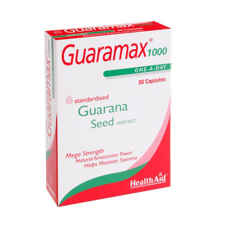 HEALTH AID GUARAMAX™ GUARANA 1000MG CAPSULES 30S -BLISTER