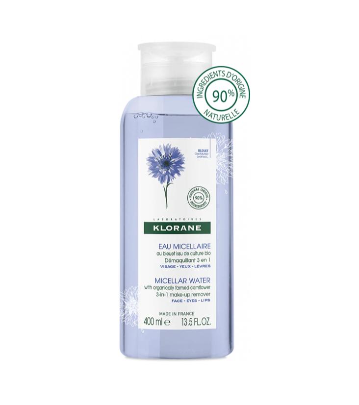 Klorane Eau Bleuet Micellaire Demaquillant 3 in 1 Make up Remover 400ml
