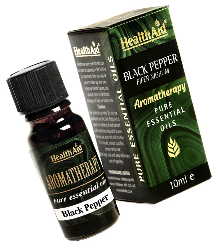 Health Aid Aromatherapy BLack Pepper Oil (Piper nigrum) 10ml