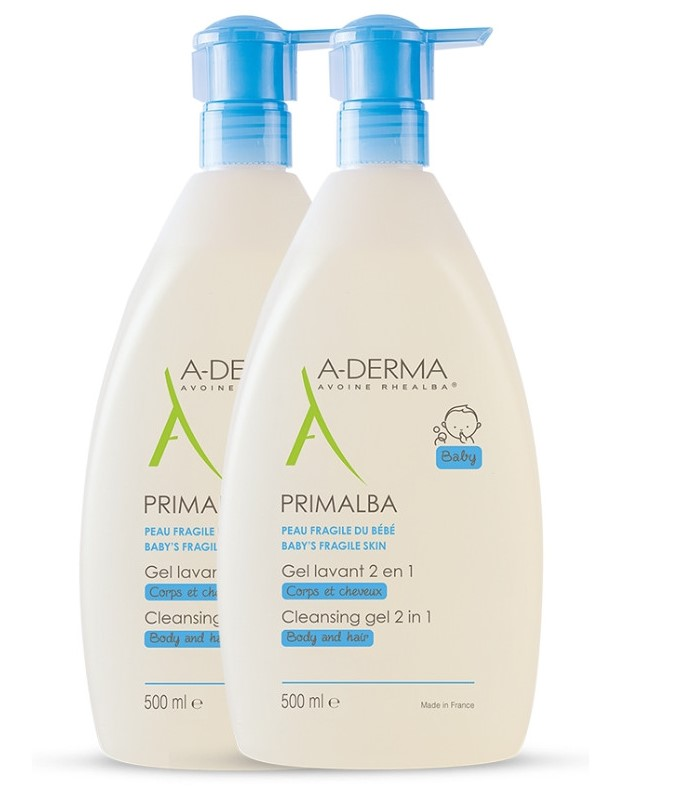 Aderma Baby Primalba Gel Lavant 2 in 1 2X500ml -50% στο 2ο Προϊον
