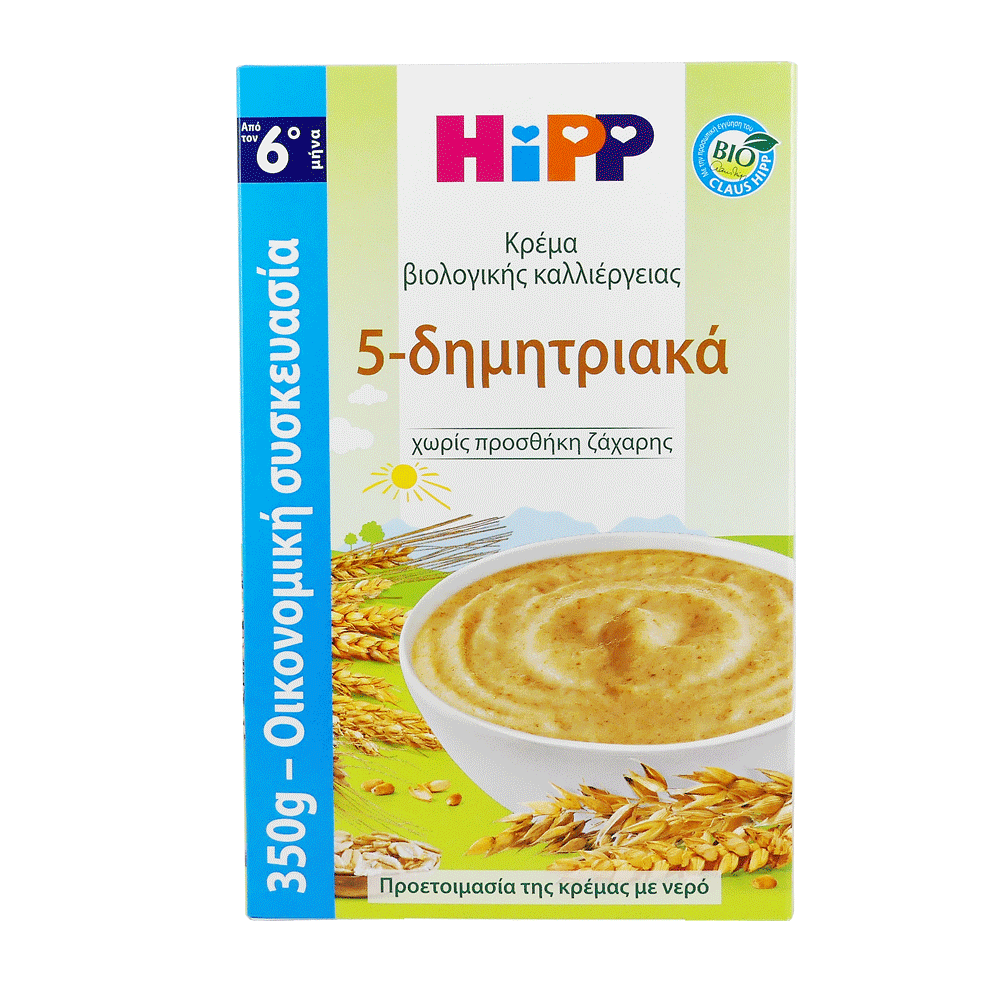 Hipp Κρέμα 5 Δημητριακών από τον 6ο Μήνα 350gr