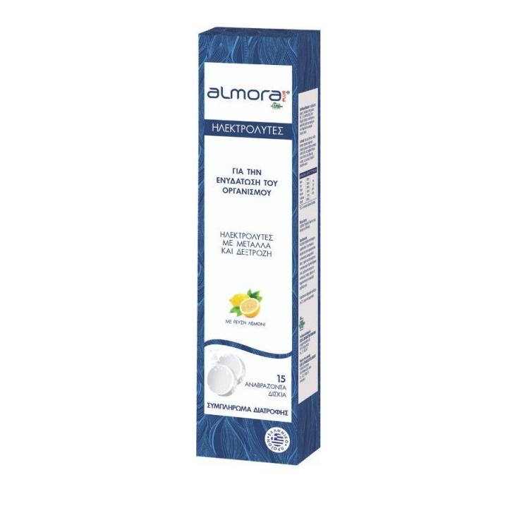 Almora PLUS Effervescent – Ηλεκτρολύτες με μαγνήσιο και ψευδάργυρο για Ενυδάτωση Οργανισμού & Ενίσχυση Ανοσοποιητικού – 15 eff.tabs
