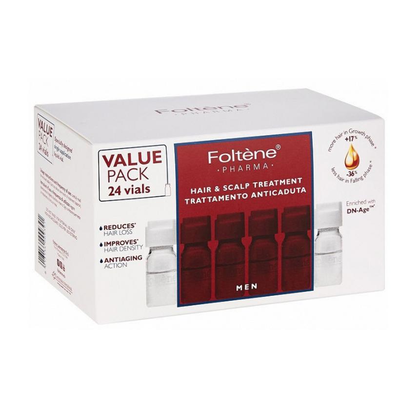 Foltene Men Hair & Scalp Treatment Αγωγή με Αμπούλες Κατά της Ανδρικής Τριχόπτωσης 24 Vials