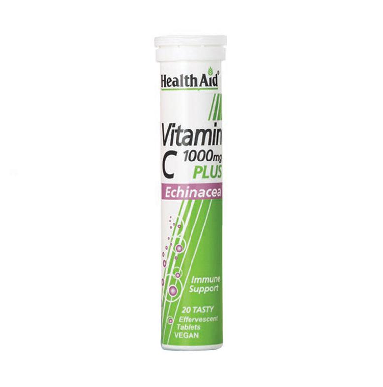 HEALTH AID VITAMIN C 1000MG + ECHINACEA -LEMON
