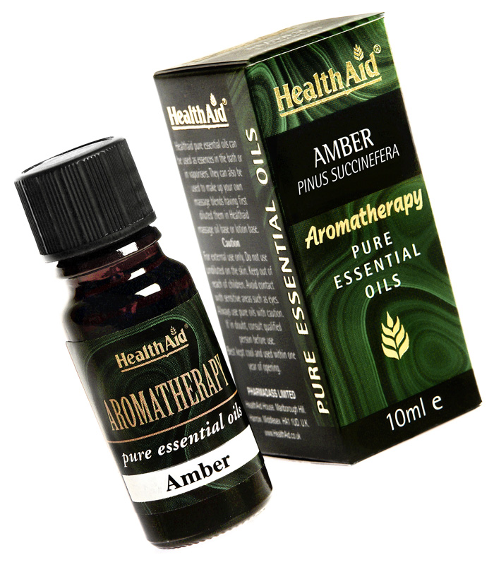 Health Aid Aromatherapy Amber Oil (Pinus succinefera) 10ml