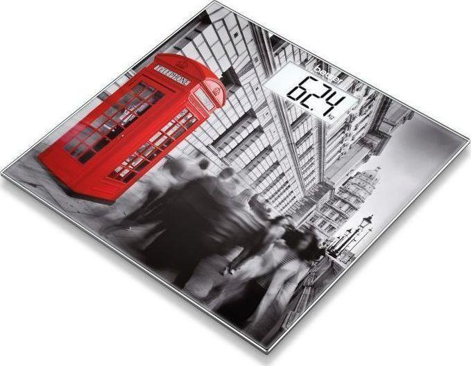 BEURER Γυάλινη Απλή Ψηφιακή Ζυγαριά  GS 203 London