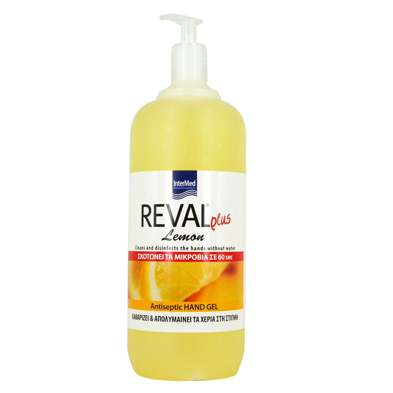 Intermed Reval  Plus Lemon Αντισηπτικό χεριών Gel 1Lt