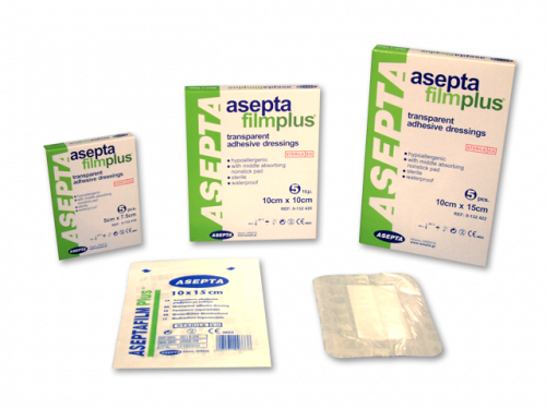 ASEPTA Filmplus Επιθέματα διαφανή αυτοκόλλητα απορροφητικά (φιλμ) 10cmX20cm 5τμχ.
