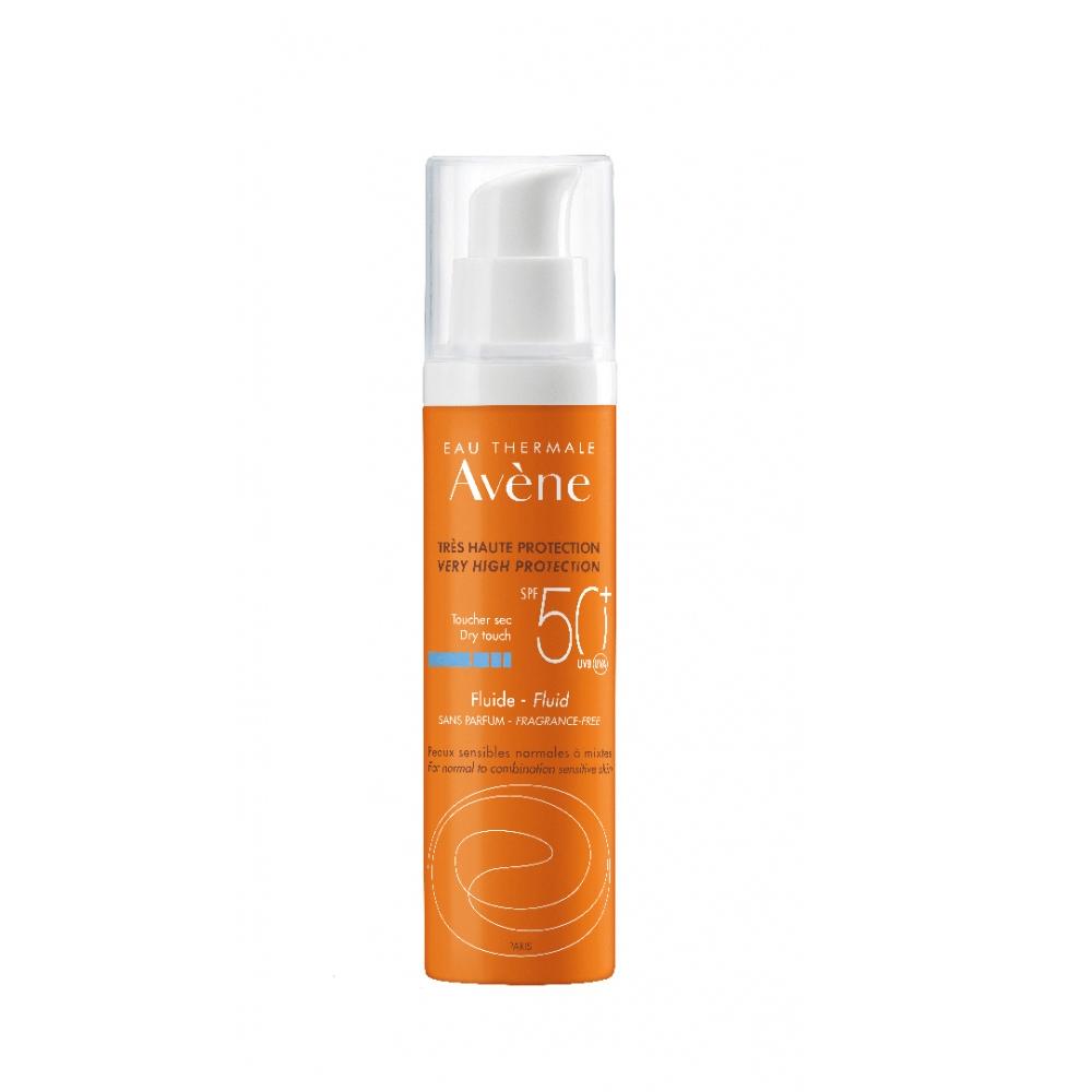 Avene Eau Thermale Solaire Fluide Sans Parfum SPF50+ 50ml