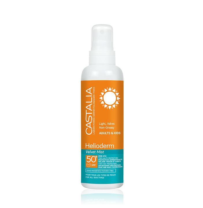 Castalia Helioderm Velvet Mist SPF50+ Αντηλιακό Spray Προσώπου & Σώματος 300ml