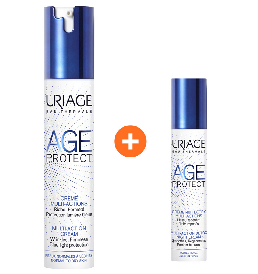 Uriage Age Protect Cream Multi-Action 40ml & ΔΩΡΟ Age Protect Creme Nuit Detox Multi-Action 10ml