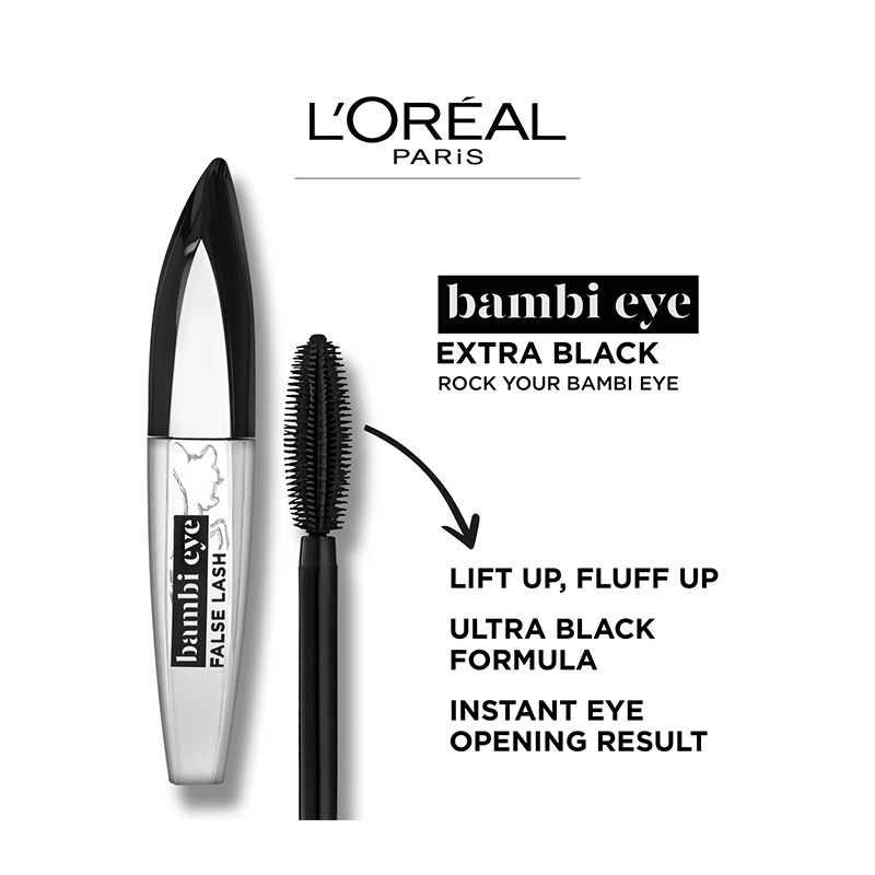 LOreal Paris False Lash Bambi Eye Mascara Extra-Black 8.9ml
