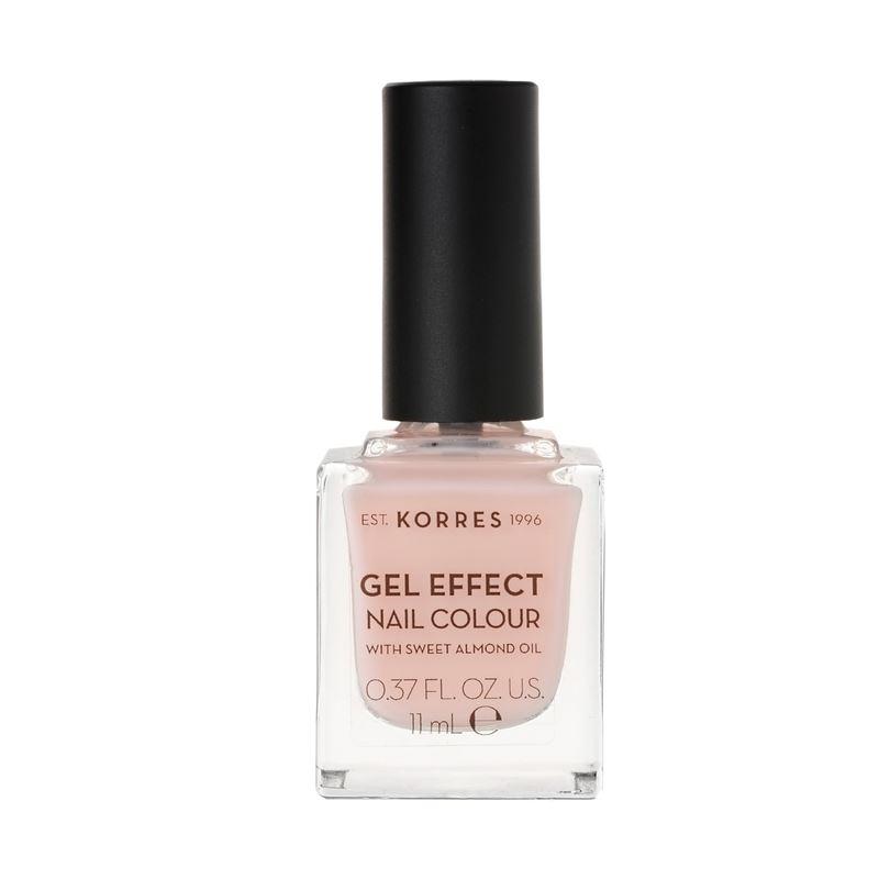 Korres Βερνίκι Νυχιών Gel Effect Nail Colour No04 Peony Pink 11ml