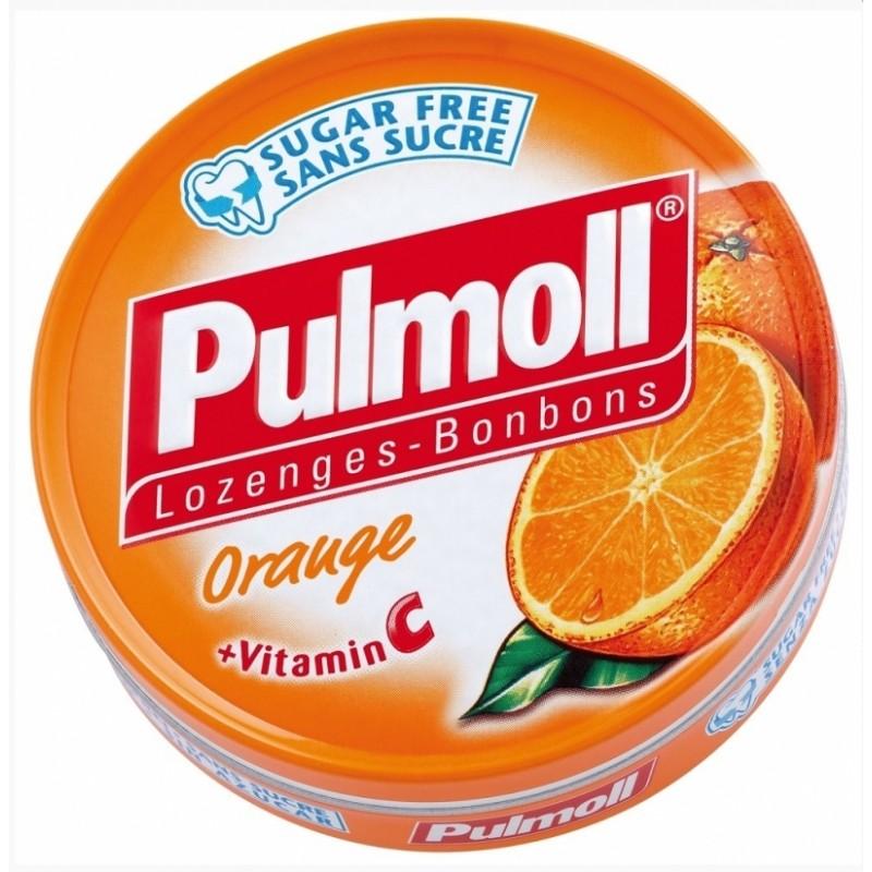 PULMOLL Καραμέλες με Πορτοκάλι & Βιταμίνη C 45gr