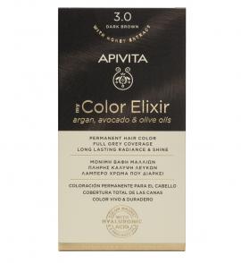 Apivita My Color Elixir kit Μόνιμη Βαφή Μαλλιών 3.0 ΚΑΣΤΑΝΟ ΣΚΟΥΡΟ