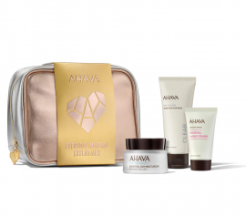 Ahava Set Time To Hydrate Essential Day Moisturizer Normal to Dry Skin 50ml + Time To Clear Purifying Mud Mask 100ml + Deadsea Water Mineral Hand Cream 40ml