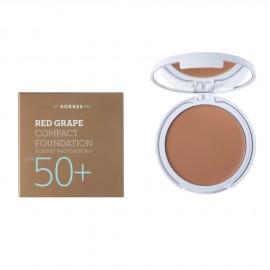 Korres Red Grape Compact Foundation SPF50+ Αντηλιακό Make Up σε μορφή compact με κόκκινο σταφύλι κατά της πρόωρης γήρανσης, Απόχρωση 2 Μεσαία, 8gr